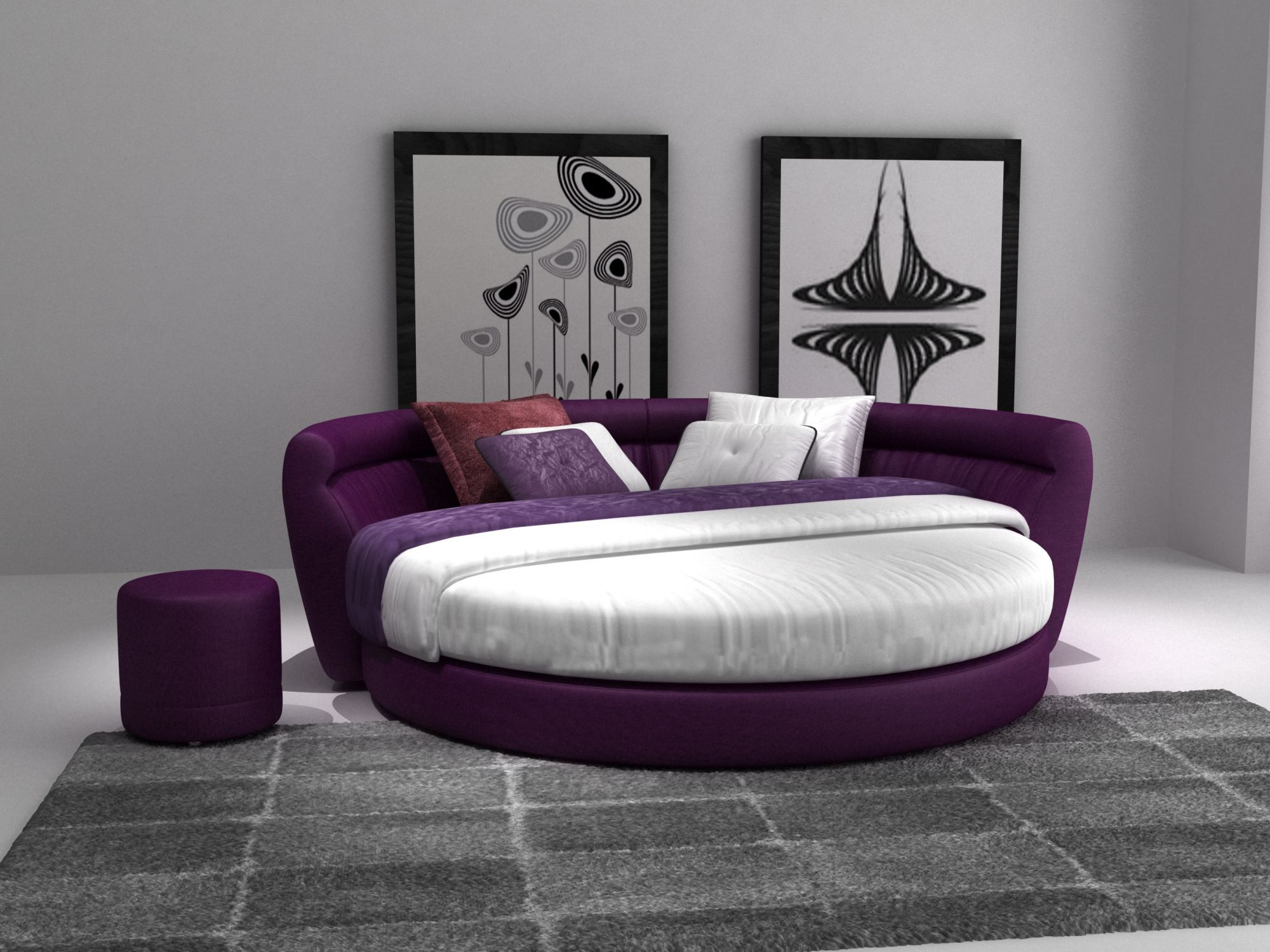 lit double rond awesome lit x cm avec sommier relevable. Black Bedroom Furniture Sets. Home Design Ideas