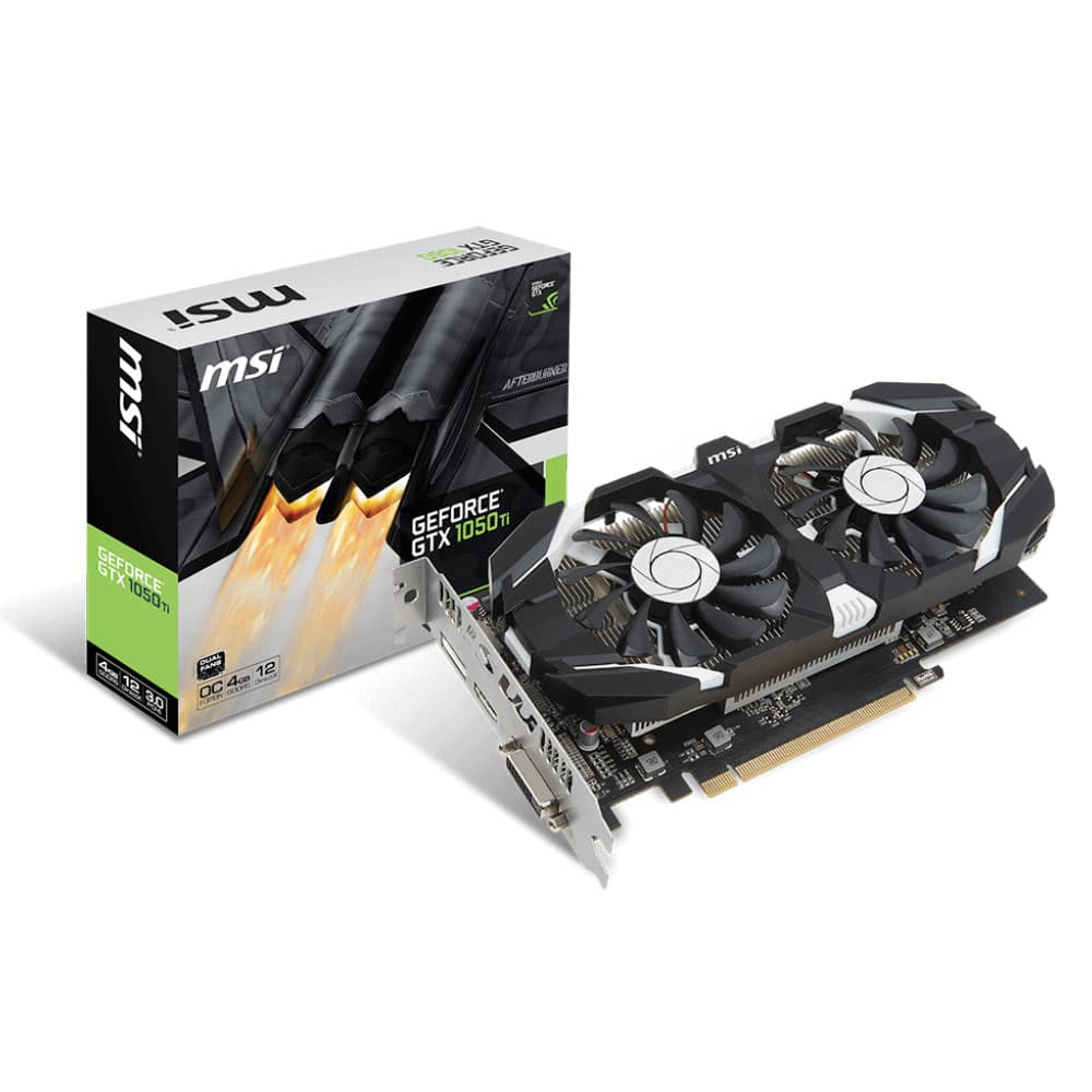 carte graphique msi geforce gtx 1050 ti 4g oc