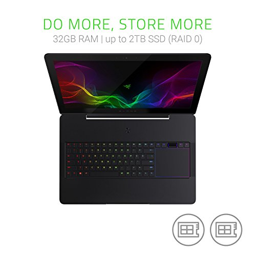 Razer - Blade Pro (17' Ecran IGZO 4K-Touch) Portable PC Gaming (Intel i7-7820HK, 32 Go RAM, 1 To...