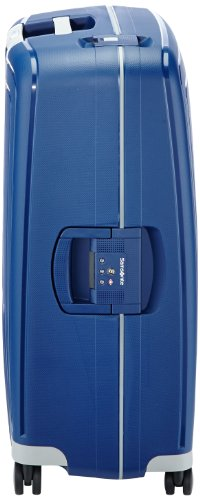 Samsonite S'Cure - Spinner L Valise, 75 cm, 102 L, Blue (Dark Blue)